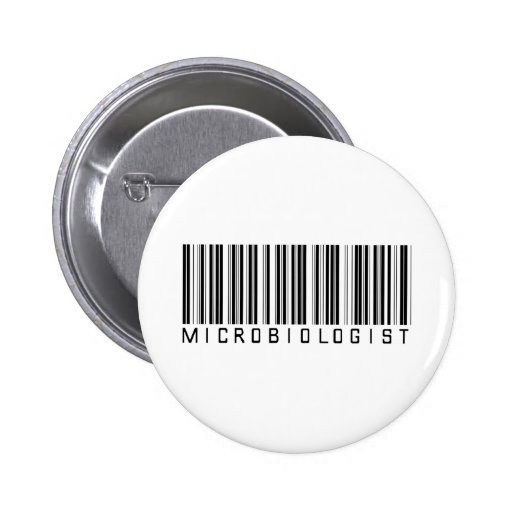 Microbiologist Bar Code 6 Cm Round Badge