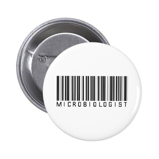 Microbiologist Bar Code 6 Cm Round Badge