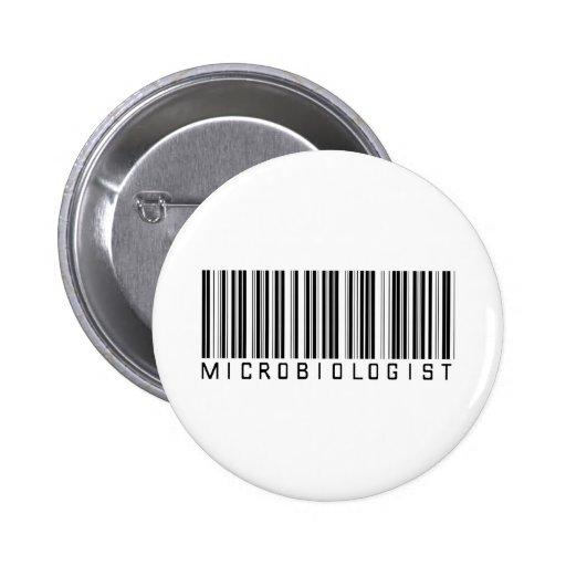 Microbiologist Bar Code Pinback Buttons