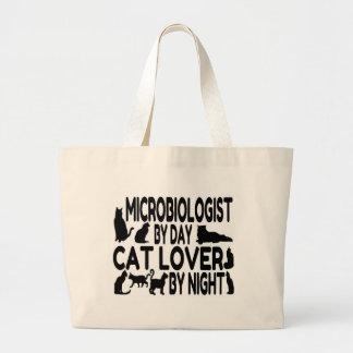 Microbiologist Cat Lover Canvas Bag