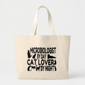 Microbiologist Cat Lover Large Tote Bag