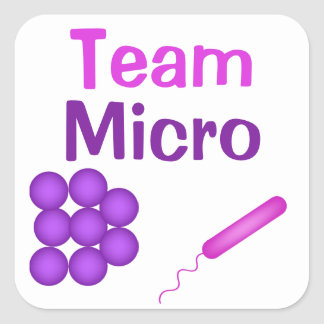 Microbiology Pride With Team Micro Square Sticker