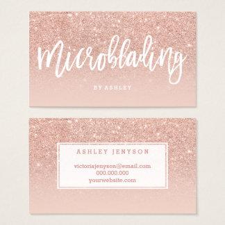 Microblading elegant typography blush rose gold