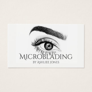 Microblading , Eyebrows, Tattoo, Permanent Makeup Business Card