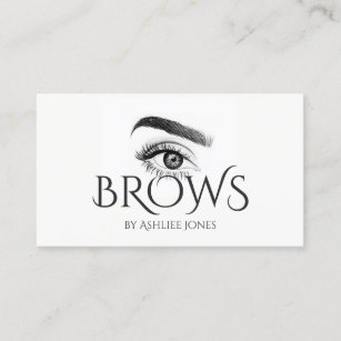 Permanent makeup business cards business card printing zazzle uk microblading eyebrows tattoo permanent makeup business card reheart Image collections