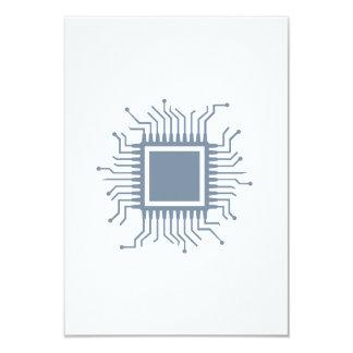 "Microchip chip computer 3.5"" x 5"" invitation card"