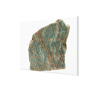 Microcline, Variety Amazonite,  Ontario, Canada Canvas Print