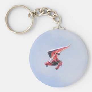 Microlight Airplane Key Ring