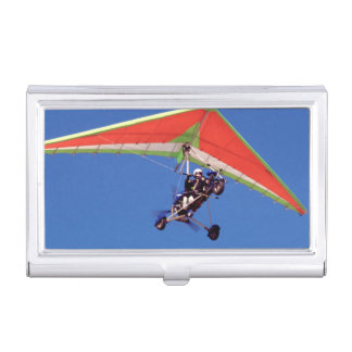 Microlight Flying In Sky, Western Cape Business Card Holder