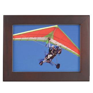 Microlight Flying In Sky, Western Cape Keepsake Box