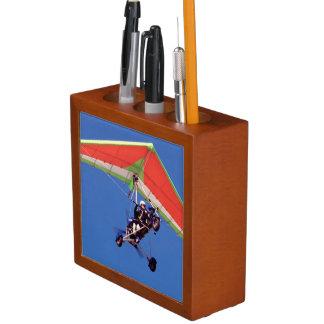 Microlight Flying In Sky, Western Cape Pencil/Pen Holder