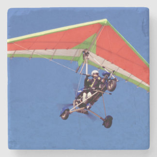 Microlight Flying In Sky, Western Cape Stone Coaster