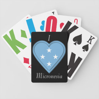 Micronesia flag bicycle playing cards