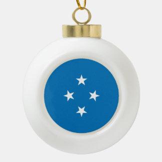Micronesia Flag Ceramic Ball Christmas Ornament