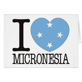 Micronesia Love v2 Greeting Card