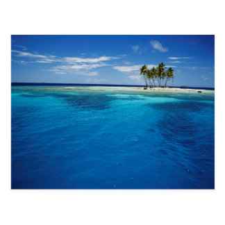 Micronesia, Tonowas, View of idyllic tropical Postcard