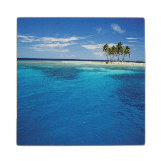 Micronesia, Tonowas, View of idyllic tropical Wood Coaster