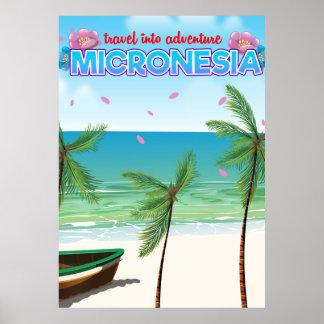 "Micronesia ""Travel into adventure"" Poster"