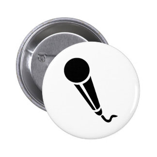 Microphone 6 Cm Round Badge