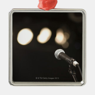 Microphone and Spotlights Christmas Ornament
