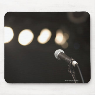 Microphone and Spotlights Mouse Mat