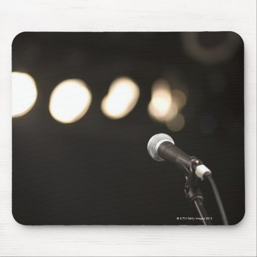 Microphone and Spotlights Mousepad