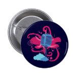 Microphone Art Explosion 6 Cm Round Badge