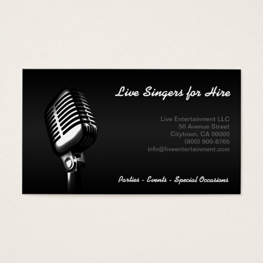 """""""Microphone"""" Business Card"""