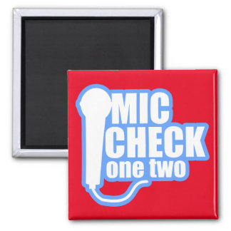 Microphone Checker Square Magnet