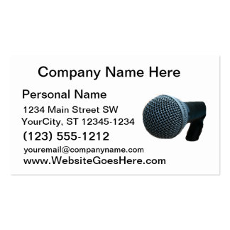 Microphone close up mic cutout design business cards