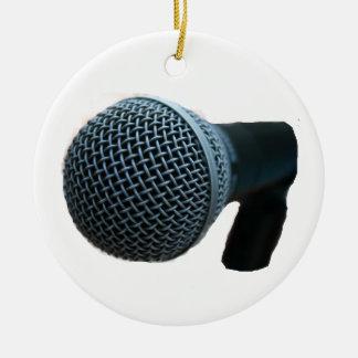 Microphone close up mic cutout design round ceramic decoration