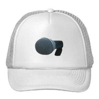 Microphone close up mic cutout design hat