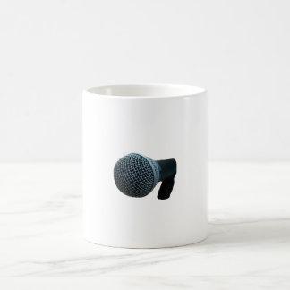 Microphone close up mic cutout design mugs