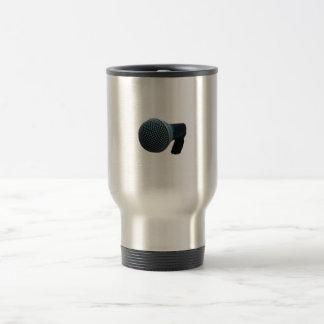 Microphone close up mic cutout design coffee mug