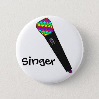 microphone disco 6 cm round badge
