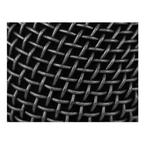 Microphone Grid Background Post Cards