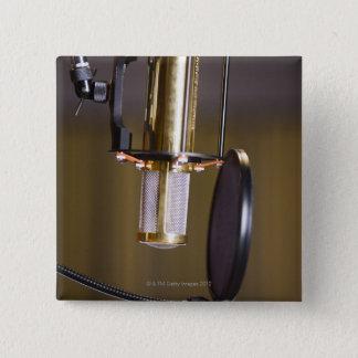 Microphone in Studio 15 Cm Square Badge