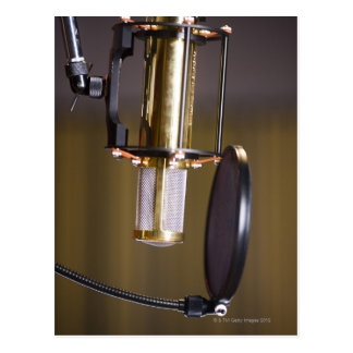 Microphone in Studio Postcard