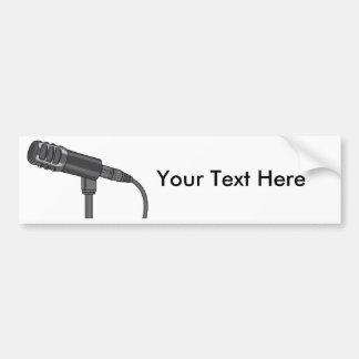 Microphone Mike ~ Audio Sound Music Bumper Sticker