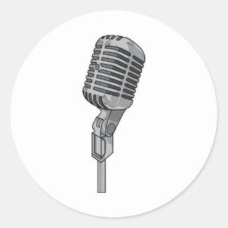 Microphone Mike ~ Audio Sound Music Round Sticker