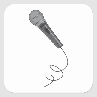 Microphone Mike ~ Audio Sound Music Square Sticker