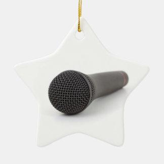 Microphone Photo Christmas Ornament