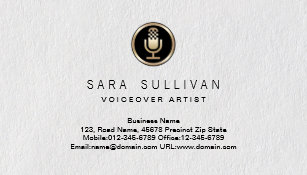 Voiceover artist business cards zazzle uk microphone voiceover artist premium business card colourmoves