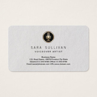 Microphone Voiceover Artist Premium Business Card
