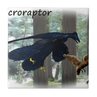 Microraptor Small Square Tile