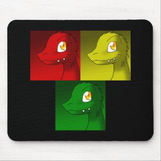 Microraptors Rastafarian Set Mouse Pad