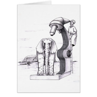 Microscope and an Elephant Card