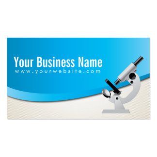 Microscope Chemical Engineering Business Card