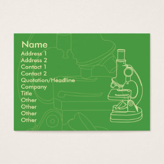 Microscope - Chubby Business Card