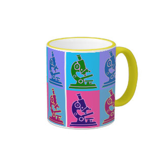 Microscope Pop Art Ringer Mug